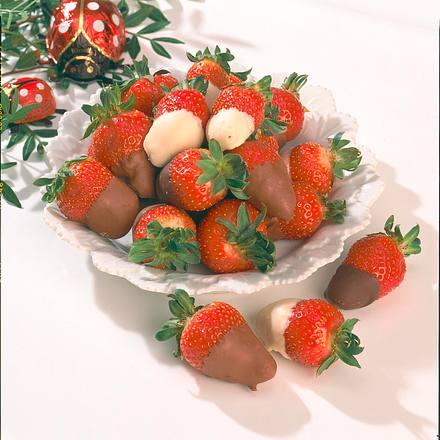 Getauchte Erdbeeren Rezept