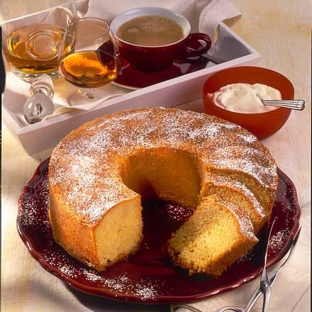 Getränkter Congnac-Kuchen Rezept