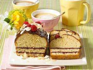 Getränkter Kokos-Beeren-Kuchen (Diabetiker) Rezept