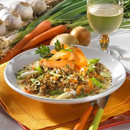 Getreide-Möhren-Risotto Rezept