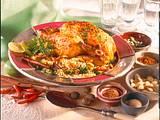 Gewürz-Hähnchen mit Mandel-Broccoli-Reis Rezept