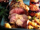 Gewürz-Roastbeef mit Knödelnockerln Rezept