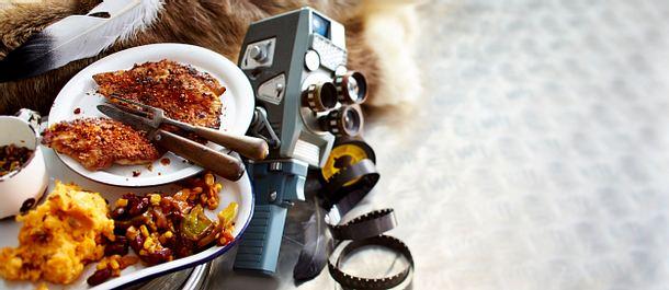 Gewürzschnitzel mit Süßkartofffelstampf Rezept