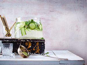 Gintastische Bowle mit frischer Minze & Gurke Rezept