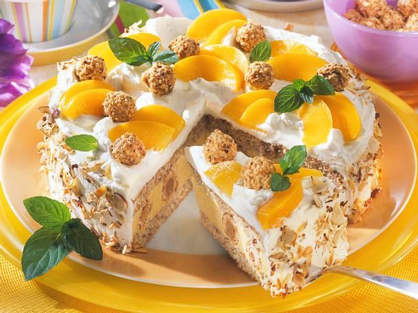 giotto torte mit pfirsichen