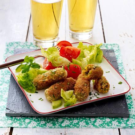 Glamorgan Sausages (Waliser Käsekroketten) Rezept