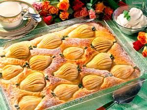 Glasierter Birnenkuchen Rezept