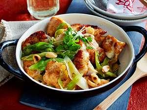 Glasiertes Huhn in Hoisin-Soße aus dem Wok Rezept