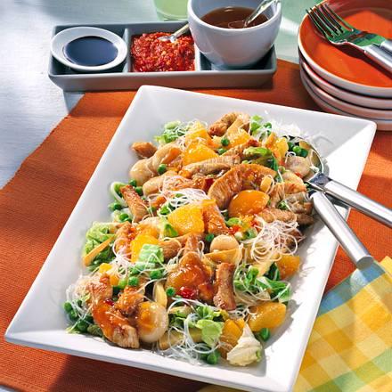 Glasnudel-Salat mit Putenstreifen Rezept