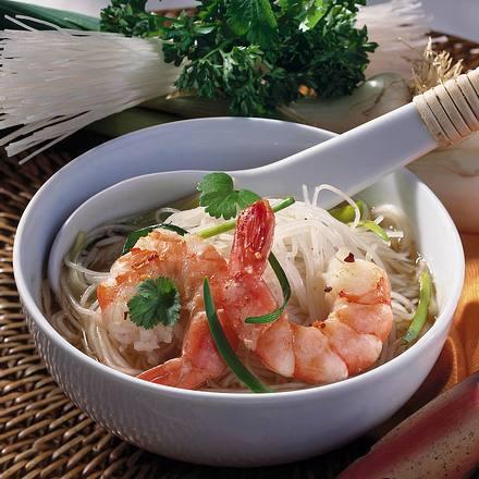 Glasnudel-Suppe mit Garnelen Rezept