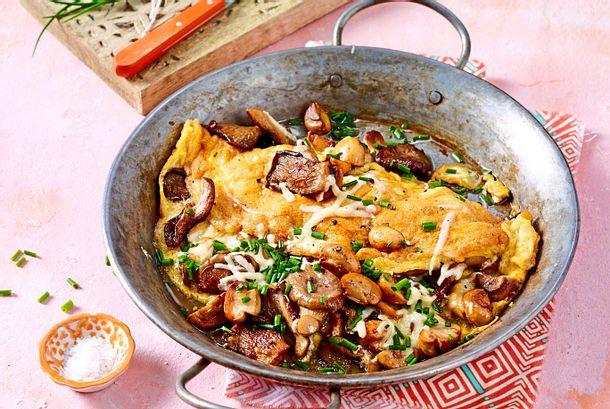 Glückspilz-Omelett mit Käse-Upgrade Rezept