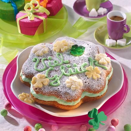 Glücksklee-Kuchen Rezept