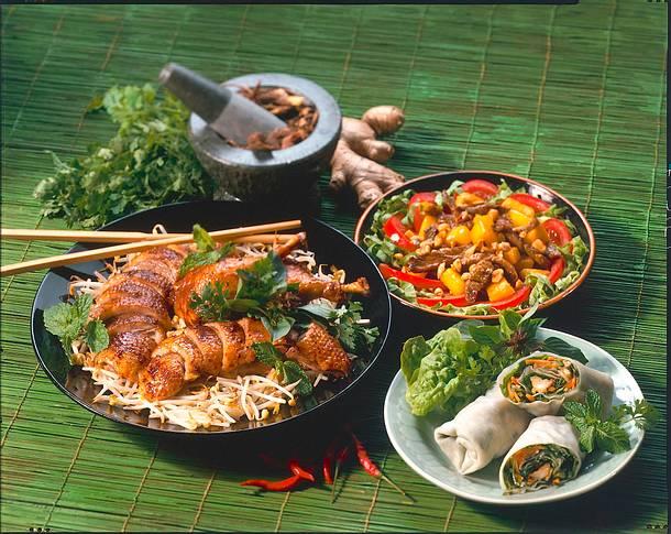 Glücksrollen mit Garnelenfüllung (Vietnam) Rezept
