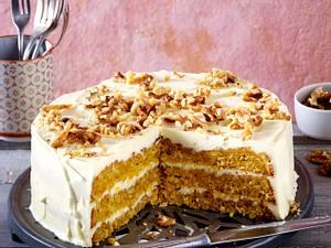 Glutenfreier Möhrenkuchen mit Frischkäse-Frosting Rezept