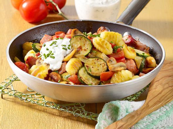 Gnocchi-Gemüse-Pfanne Rezept