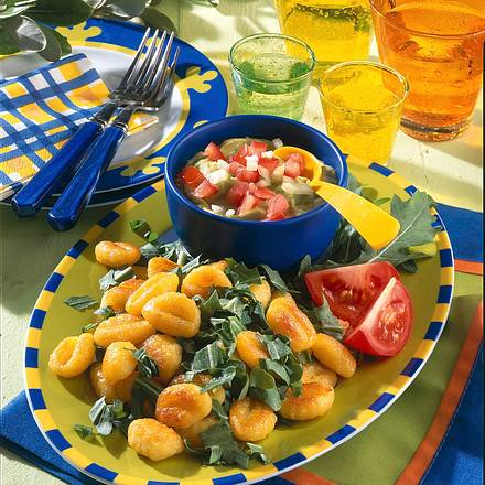 Gnocchi mit Avocado-Dip Rezept