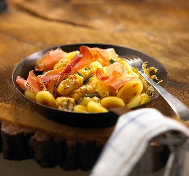 Gnocchi mit Käse und Speck Rezept