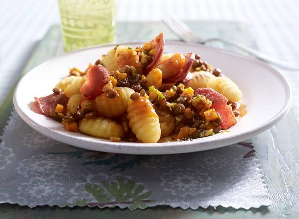 Gnocchi mit Linsengemüse Rezept