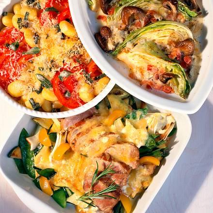 Gnocchi-Tomaten-Gratin mit Salbeibutter Rezept