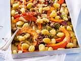 Gnocchi vom Blech mit Rosenkohl, Kürbis und Pilzen Rezept