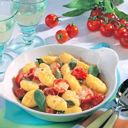 Gnocci-Tomaten-Gratin Rezept