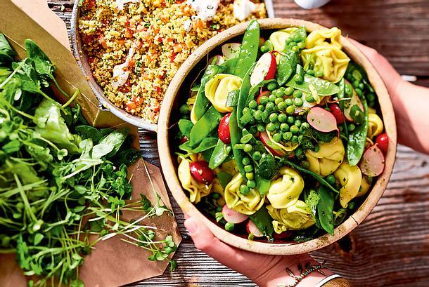 """Go Green""-Tortelloni-Salat Rezept"