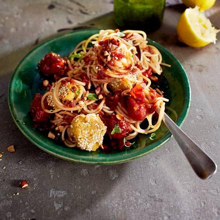 Good Vibrations-Spaghetti mit Falafelbällchen Rezept