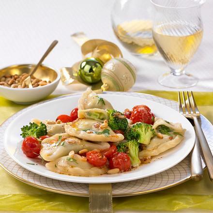 Gorgonzola-Broccoli-Taschen Rezept