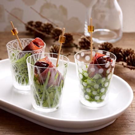Gorgonzola-Datteln im Schinkenmantel Rezept