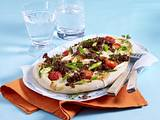 Gorgonzola-Hack-Pizza Rezept