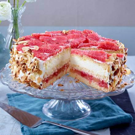 Grapefruit-Sahne-Torte Rezept