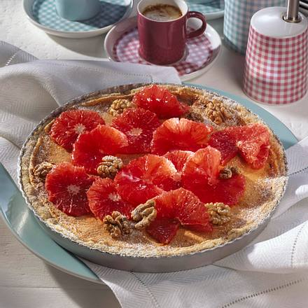 Grapefruit-Walnusstarte (Diabetiker) Rezept