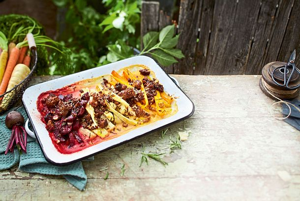 Gratin Tricolore und 25 % Hack on top Rezept
