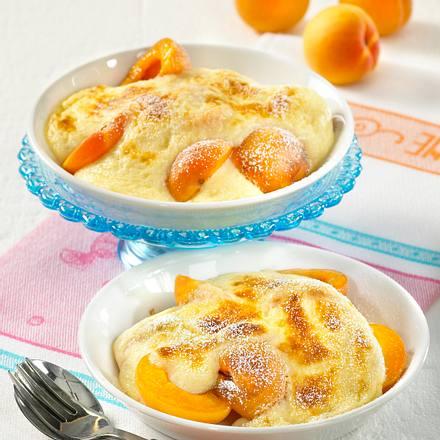 Gratinierte Aprikosen mit Grappaschaum Rezept