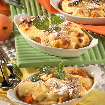 Gratinierte Aprikosen mit Quark-Eischnee-Haube Rezept
