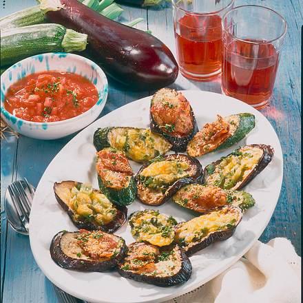 Gratinierte Auberginen und Zucchini Rezept