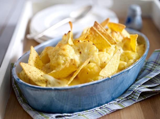 Gratinierte Blumenkohlröschen in Senf-Käsesoße Rezept
