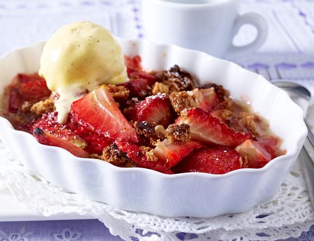Gratinierte Erdbeeren Rezept