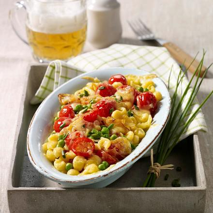 Gratinierte Gemüse-Spätzle Rezept