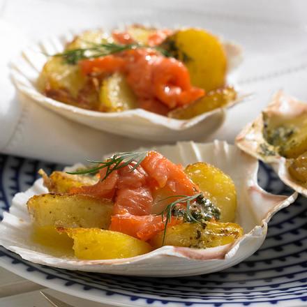 Gratinierte Kartoffeln mit Lachs Rezept