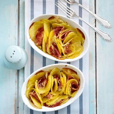 Gratinierte Kartoffeln mit Pancetta und Greyerzer-Käse Rezept