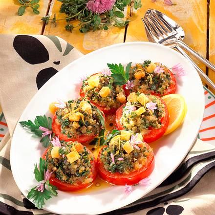 Gratinierte Kräuter-Tomaten Rezept