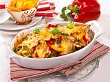 Gratinierte Paprika-Schnitzel Rezept