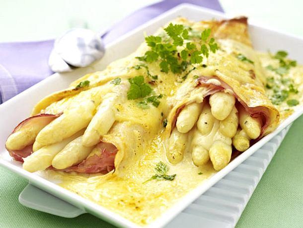 Rezepte Pur De gratinierte spargel crespelle mit käse bechamel rezept