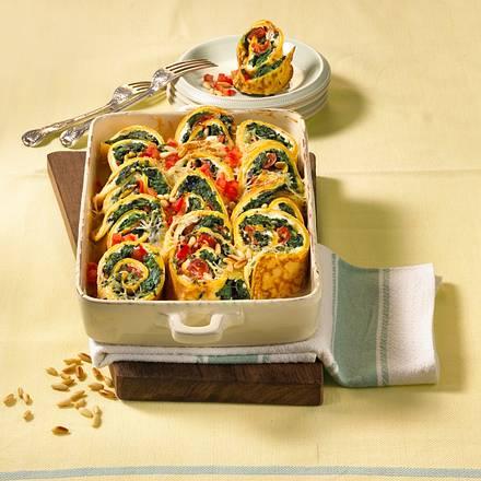 Gratinierte Spinat-Pfannkuchen Rezept