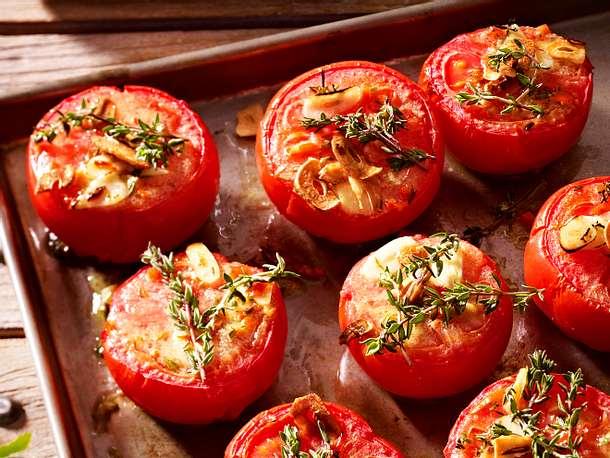 Gratinierte Thymian-Tomaten Rezept