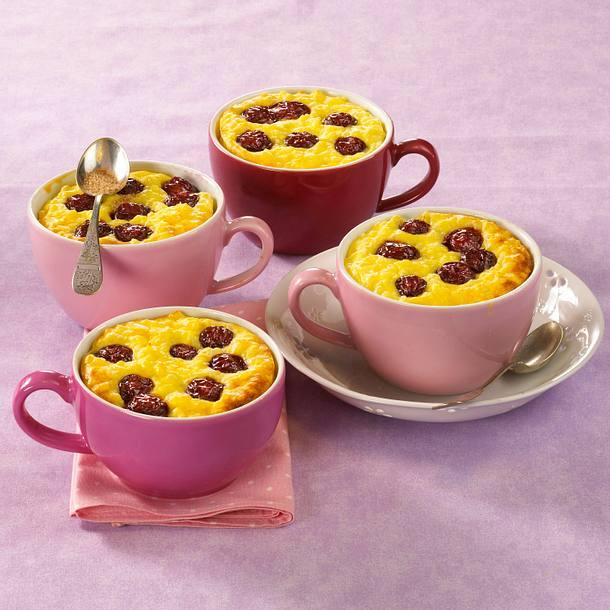 Gratinierter Milchreis mit Kirschen Rezept