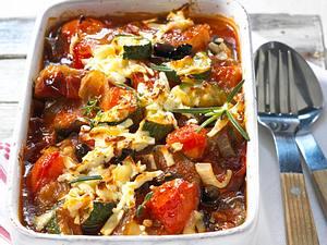 Gratiniertes Ratatouille-Gemüse Rezept