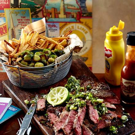 Great Steak mit Chimichurri und Rosenkohl Rezept