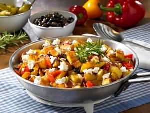 Griechische Bratkartoffel-Pfanne Rezept